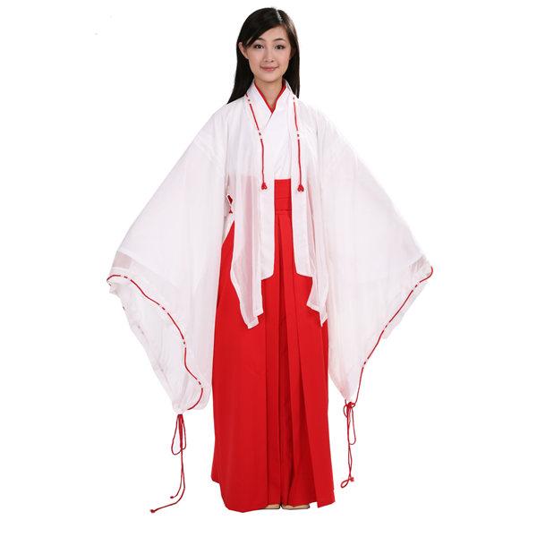 画像1: 大人用 巫女 羽織付 女性用 大人用 巫女 羽織付 女性用 - 子供用.com