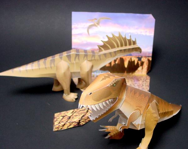ペーパークラフト 恐竜 - 子 ... : 厚紙工作子供 : 子供
