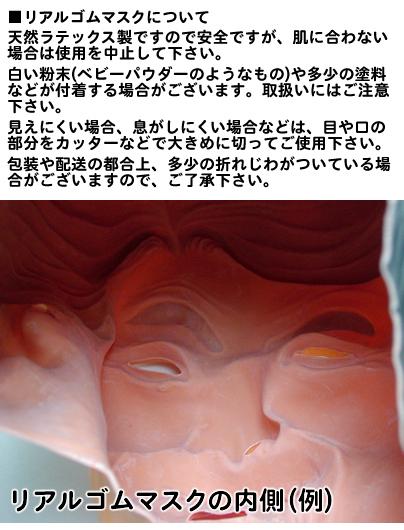 大人用 リアルゴムマスク ボス・ナス                                         [33370]