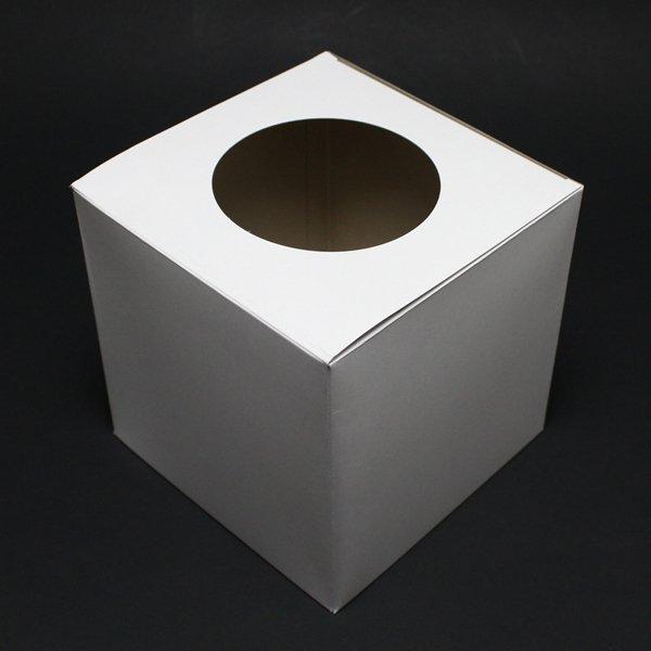 画像1: 抽選箱 紙 16cm角 白無地 (1)