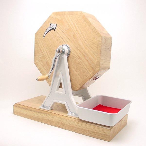 画像1: イベント用品・木製福引回転抽選器 41cm 広口 (1)