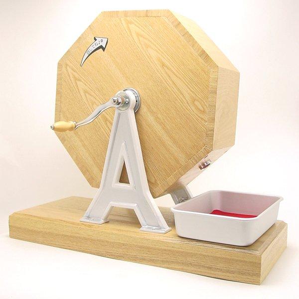 画像1: 木製福引回転抽選器 45cm 広口 (1)