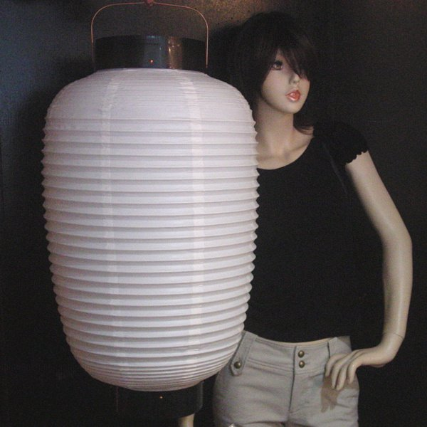 画像1: 提灯[ちょうちん]ビニール無地縦長84cm (1)