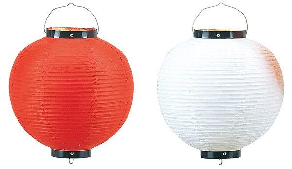 画像1: 提灯[ちょうちん]ビニール無地丸55cm (1)