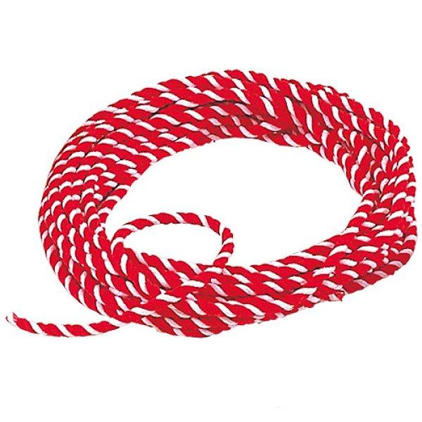 画像1: 紅白ロープ 10mm 100m巻 (1)