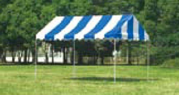 画像1: テント ストライプ 2間×3間 (1)