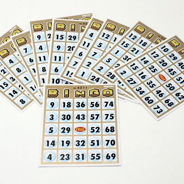 画像1: 営業日午前注文即日発送|ビンゴカード 30枚セット (1)