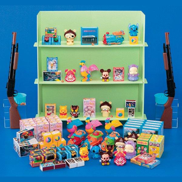 画像1: コルク玉射的打ちセット 厳選おもちゃ 150ヶ入り (1)