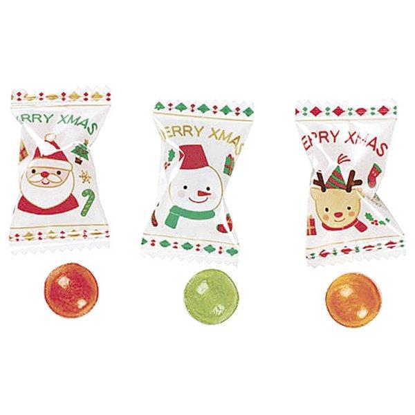 画像1: クリスマス景品 メリークリスマス柄の飴 300ヶセット (1)