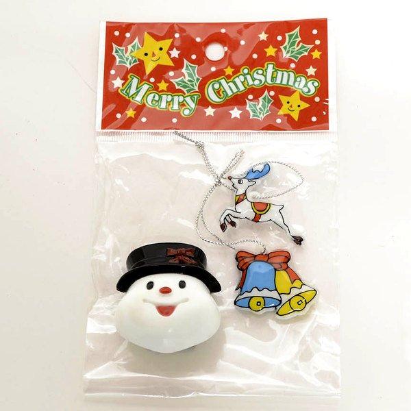 画像1: クリスマス景品 小さなおもちゃ3点袋 100セット (1)