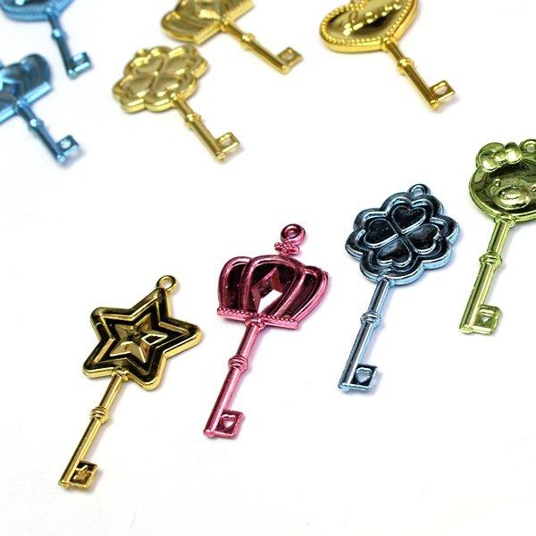 画像1: すくい用おもちゃ キラキラ幸運の鍵 100ヶセット (1)