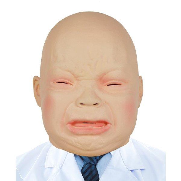 画像1: 大人用 リアルゴムマスク 赤ちゃん (1)
