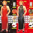 画像1: 大人用 女装コスチューム パーティードレス かつら・ハイヒール・アクセサリー付 (1)
