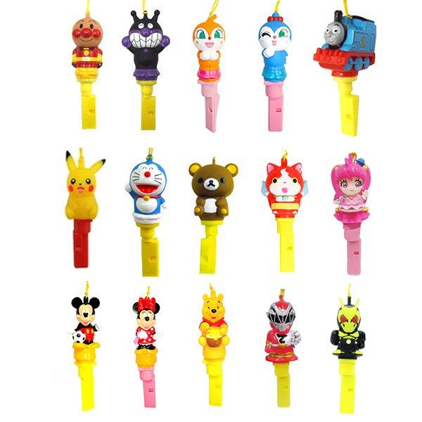 画像1: キャラクター笛ペンダント まとめ買い100ヶセット(10ヶ×10種)セット 柄指定不可 (1)