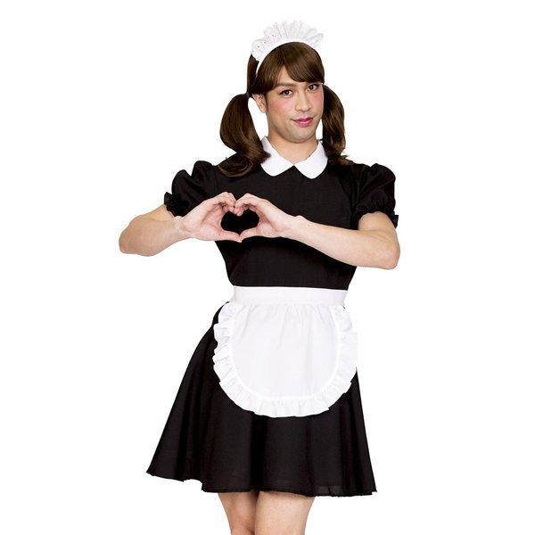 画像1: 大人用 女装コスチューム メイド (1)