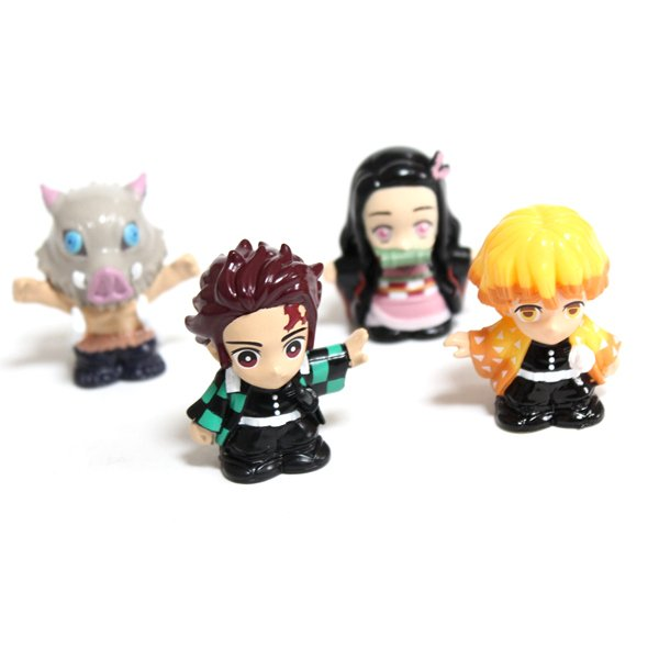 画像1: すくい用おもちゃ 鬼滅の刃人形 4ヶセット (1)