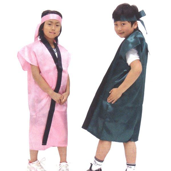 画像1: ダンス・団体演技衣装 長ハッピ 子供用 (1)