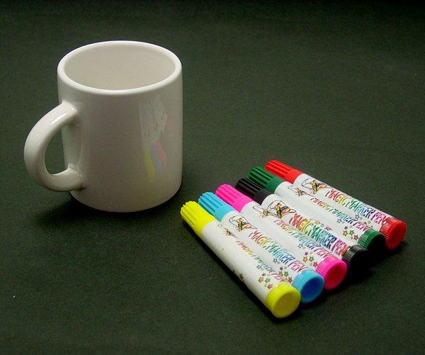 画像1: 工作イベントキット 手作りマグカップ 7.5cm (1)