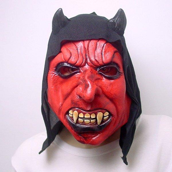 画像1: 大人用 リアルゴムマスク 悪魔 (1)